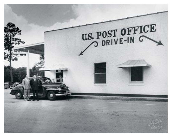 Drive-In Post Office in Houston Texas, 1951