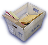 USPS Plastic Mail Tub