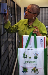 USPS 'GO Green' Tote Bag