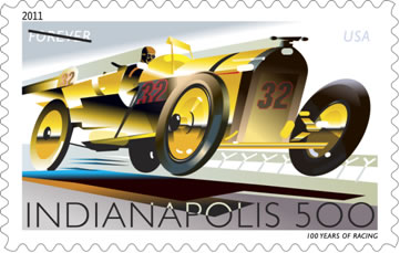 Indy 500 Forever Stamp