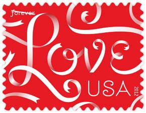 2012  Love Ribbons Forever Stamp