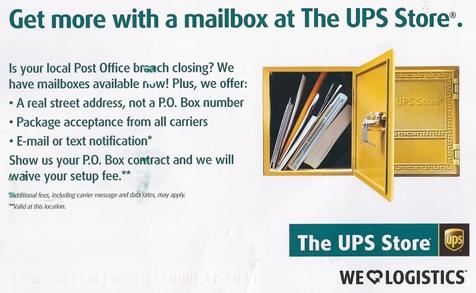 UPS PO Box Promotion